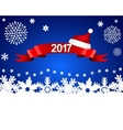 New Year 2017 on a blue background with snowflakes vector image