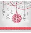 New year card with ballgarlandsribbon vector image vector image