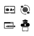 online education simple related icons vector image