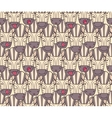 Pattern from zebra muzzles vector image vector image