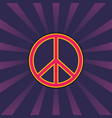 peace sign vintage style vector image vector image