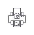 photo studio line icon concept photo studio vector image