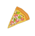 Pizza Slice With Shrimps vector image vector image