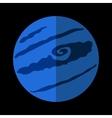 Pluton flat icon vector image vector image
