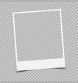 retro photo frame with shadow vector image vector image