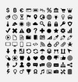 set black icons for web design symbols vector image