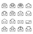 set of envelope icons for letters with abstract vector image vector image