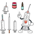 set of injection medicine vector image vector image