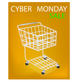 Shopping Cart on Cyber Monday Sale Promotion vector image vector image