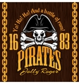 Skull in pirate hat - design for badges logos vector image vector image