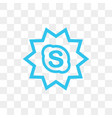 skype social media icon design template vector image