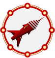 Space ship with a red frame vector image