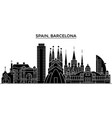 spain barcelona architecture city skyline vector image vector image