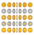 Star coins rotation vector image vector image