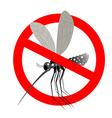 Stop mosquito Forbidden Zika virus Frozen mosquito vector image