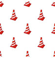 traffic cone icon in cartoon style isolated on vector image vector image