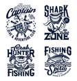 tshirt prints underwater animals mascots vector image vector image