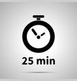 twenty five minutes timer simple black icon vector image vector image