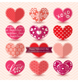 valentines day heart symbol elements pattern vector image