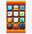Funky Cartoon Phone Apps vector image