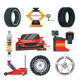 tires service vector image