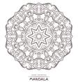 Mandala for coloring Patterned Design Element vector image