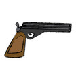 handgun weapon isolated vector image