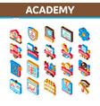 academy educational isometric icons set