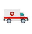 ambulance icon flat style vector image vector image