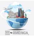 America Landmark Global Travel And Journey vector image