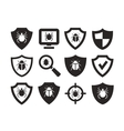 Antivirus protection web icons set vector image vector image