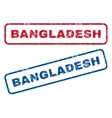 Bangladesh Rubber Stamps vector image