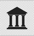 bank building icon in flat style museum on vector image vector image
