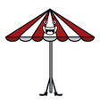 beach umbrella summer kawaii character vector image