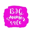 Big summer sale Brush lettering vector image