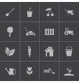 black gardening icons set vector image vector image