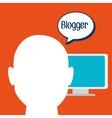 Blogger web internet icon vector image