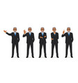 business man set vector image vector image