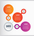 business presentation concept with 3 options vector image vector image