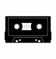 cassette tape dark silhouette vector image