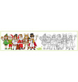 children in carnival costumes christmas vector image vector image