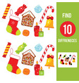 christmas and new year holidays theme find the vector image vector image