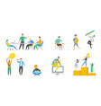 collection scenes at office business meeting vector image