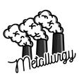 Color vintage Metallurgy emblem vector image vector image