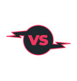colour outline versus sign like opposition vector image vector image