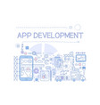 creative sketch infographic of mobile app vector image