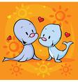 cute seal in love vector image vector image