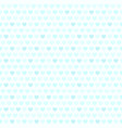cyan heart pattern seamless background vector image vector image