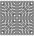 Design seamless monochrome interlaced pattern vector image vector image