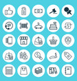 E-commerce icons set collection of business